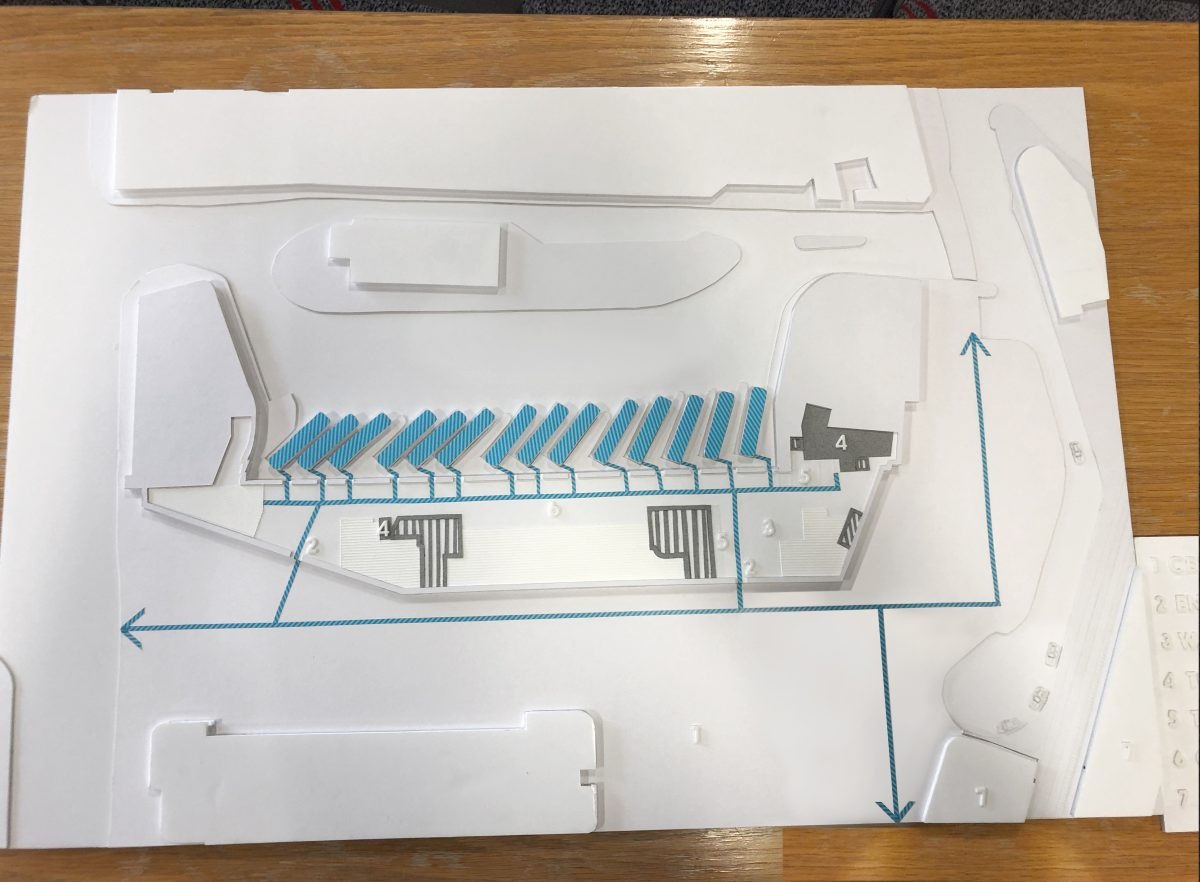 tactile map of the proposed Cardiff transit interchange hub